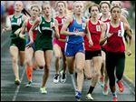 Leah Recker of Liberty-Benton, center, placed second in the 800-meter run in the Division II regional meet.