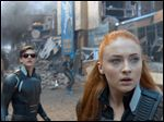Tye Sheridan, left, and Sophie Turner appear in a scene from,