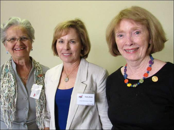 Corinne Welch, Kathy Bixler and Kathy Wetli at the Christ Child Society of Toledo's 25th anniversary celebration.