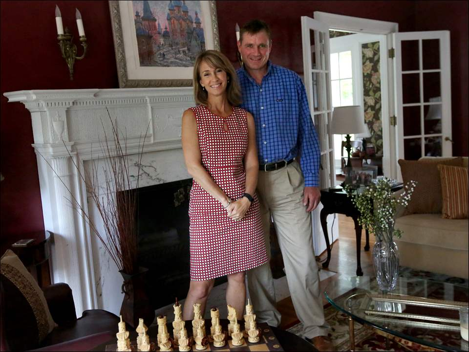 """We think of ourselves as stewards of the homes,"" Amy Natyshak said of the historic house she and her husband Mike own in Toledo's Westmoreland neighborhood."