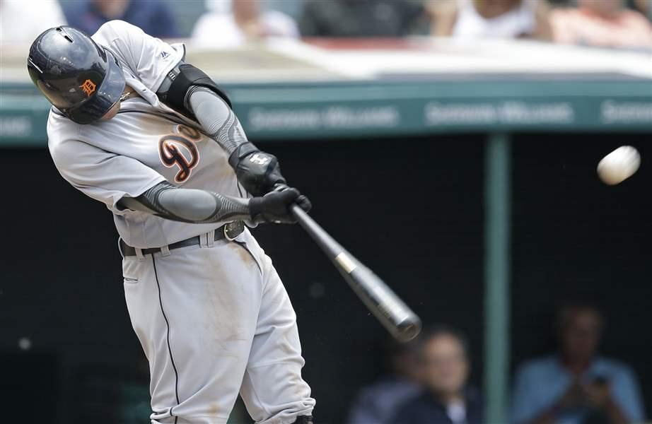 Castellanos' 5 RBIs lead Tigers over Indians 12-2