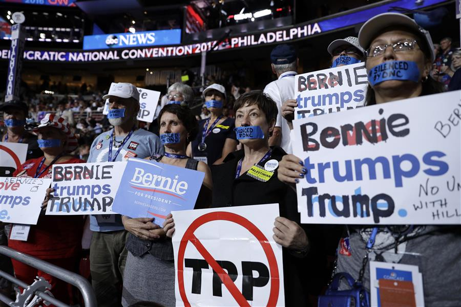 DEM 2016 Convention MICHIGAN DELEGATES BERNIE TPP