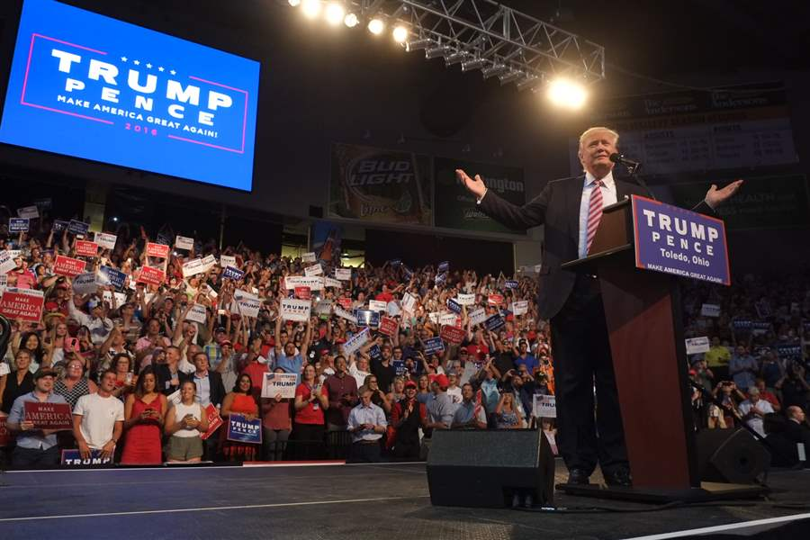 Image result for trump toledo rally