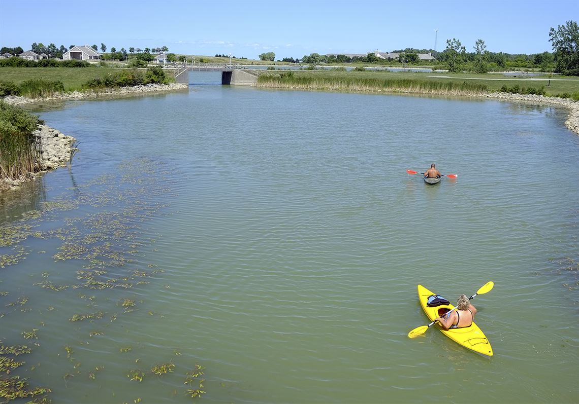 People Ride Kayaks At Maumee Bay State Park In Oregon Local Leaders Discussed An Amendment