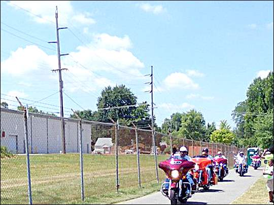 Riders arriving at Oscar Bunch Park for the Big Brothers Big Sisters eighth annual Ride-for-Kids' Sake Family Picnic and Motorcycle Run to benefit Big Brothers Big Sisters of Northwestern Ohio.