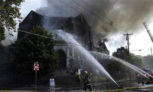Philadelphia-Church-Fire