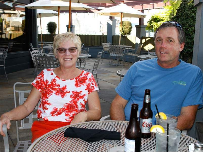 Vicki and Dave Huber of Millbury, at Cousino's Steakhouse in Oregon.