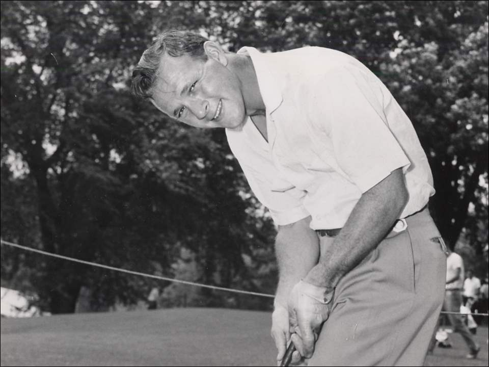 Arnold Palmer at the 1957 U.S. Open at Inverness Country Club in Toledo.