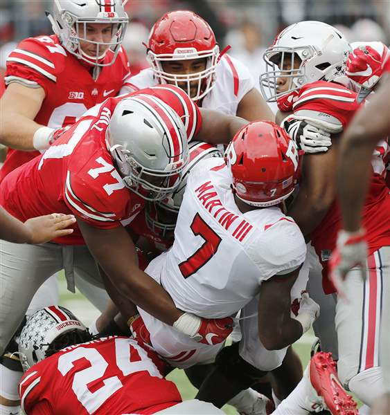 Barrett sets record, Ohio State blows out Rutgers 58-0