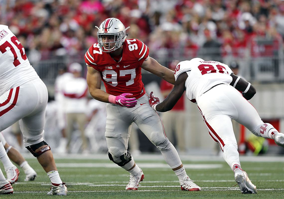 68f6a2f90 Ohio State defensive end Nick Bosa will not return to the field until  November at the