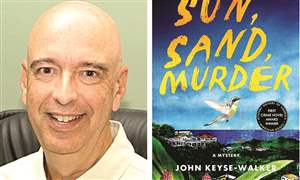 John-Keyse-Walker-and-his-book-Sun-Sand-Murder
