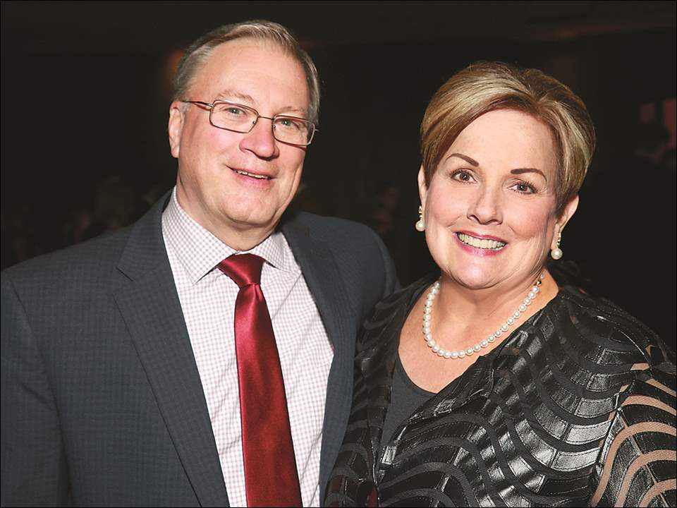 Event chairmen Scott and Rita Stweart at the 27th annual A Night to Remember presented by Mercy Health Foundation at Stranahan Theater and Great Hall.