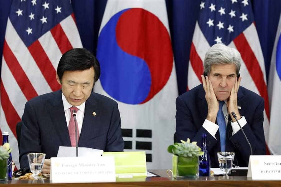 John Kerry warns North Korea as missile test fails again