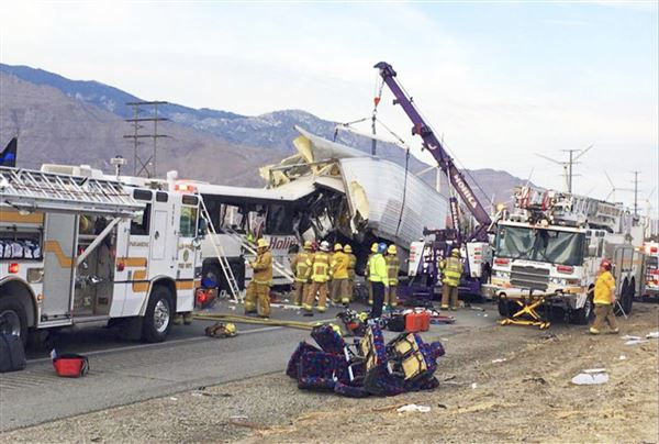 Thirteen killed, 31 injured in California tour bus crash