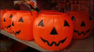 Halloween buckets at Rite-Aid on Monroe Street and Secor Road.