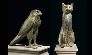 ToledoMuseum-artifacts-falcon-and-cat