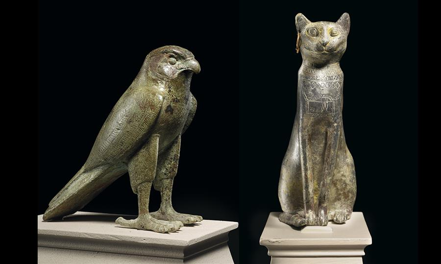 ToledoMuseum artifacts falcon and cat