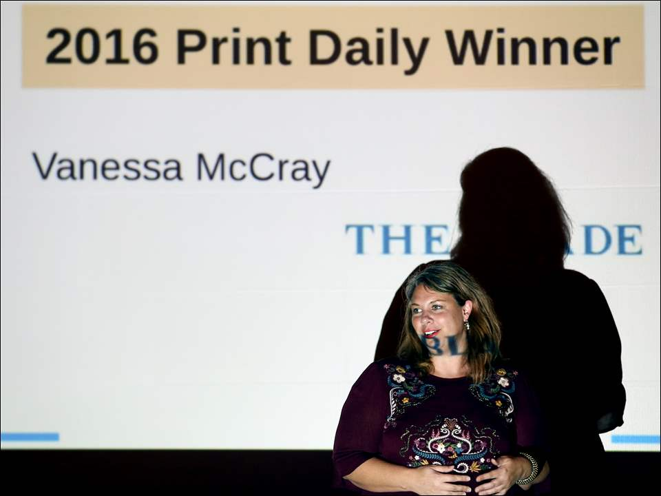Blade reporter Vanessa McCray wins an Excellence in Journalism Award.