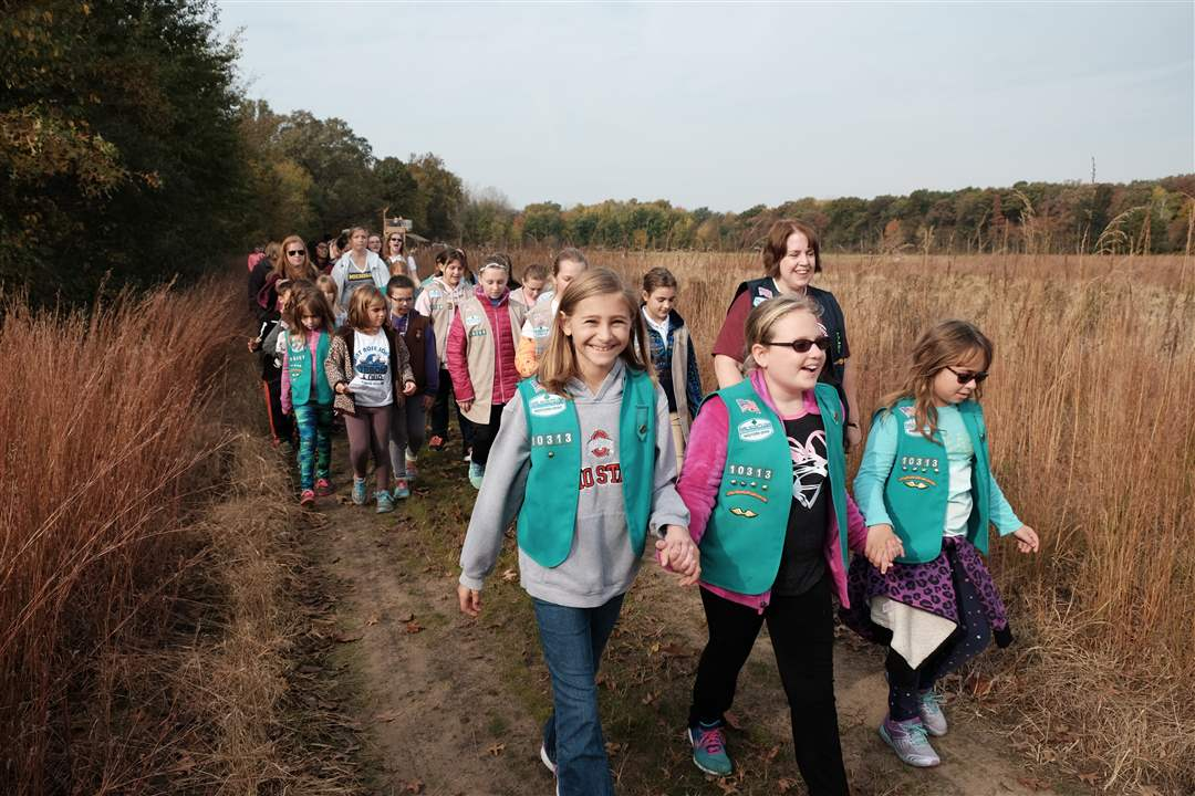 girl scouts open westwinds metropark trail   the blade
