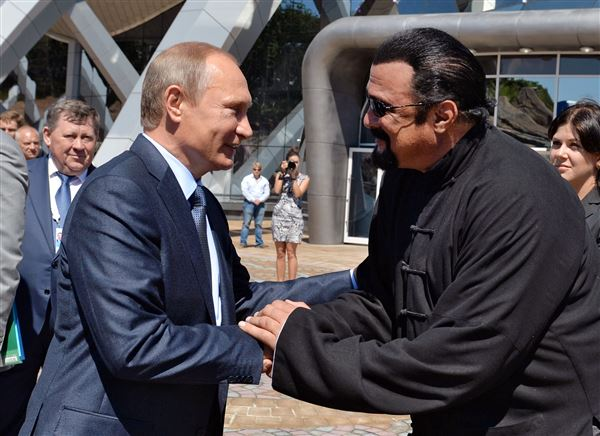Vladimir Putin grants Steven Seagal Russian citizenship