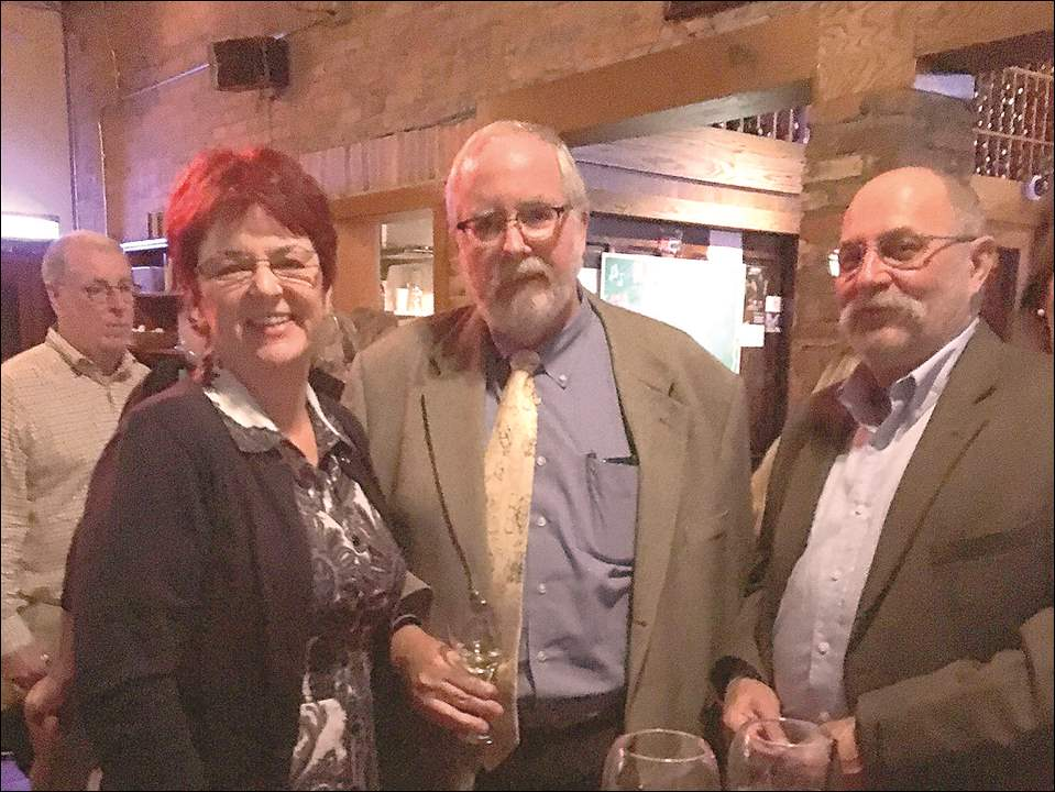 Deborah Gerst, Paul Sullivan, and Henry Gerst at the A Celebration of Wine and Food presented by the Toledo Animal Shelter Auxiliary at Manhattan's Restaurant.