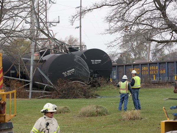 Train Cars Carrying Flammable Chemical Derail In East