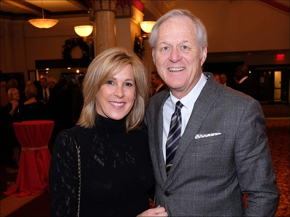 Bruce and Betsy Rumpf during the Block Communications Inc. Holiday Reception Valentine Theatre in Toledo.