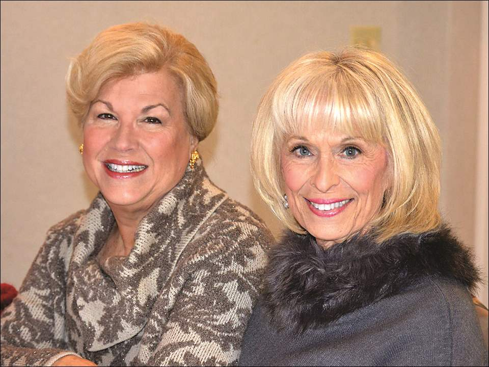 Kay Berning, left, and Joan Tobias at the Auxiliary to The Ability Center's holiday luncheon at Stone Oak Country Club.