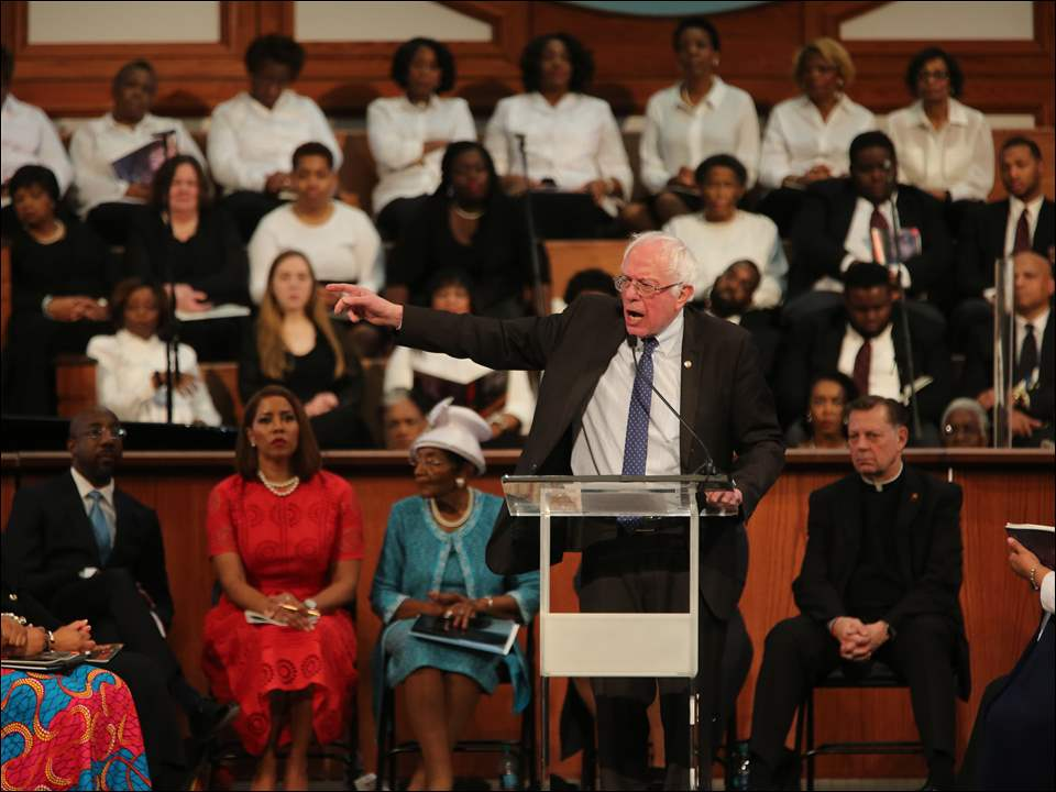 Sen. Bernie Sanders (I-VT.), giving a special tribute to Dr. Martin Luther King, Jr.