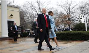 President-elect-Donald-Trump-and-his-wife-Melania-leave-church