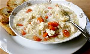 Gingered-Chicken-and-Rice-Soup