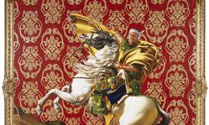 Kehinde-Wiley-s-Napoleon-Leading-the-Army-Over-the-Alps