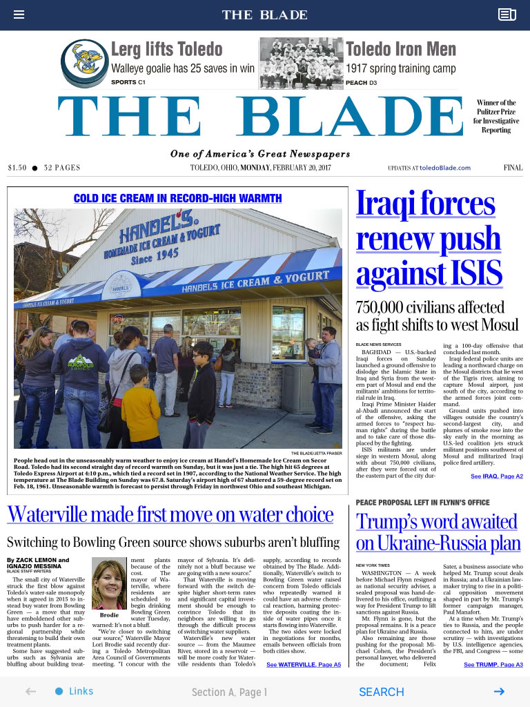 No Print Edition Of The Blade On Presidents Day The Blade