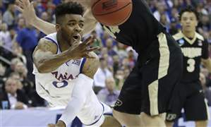 APTOPIX-NCAA-Purdue-Kansas-Basketball