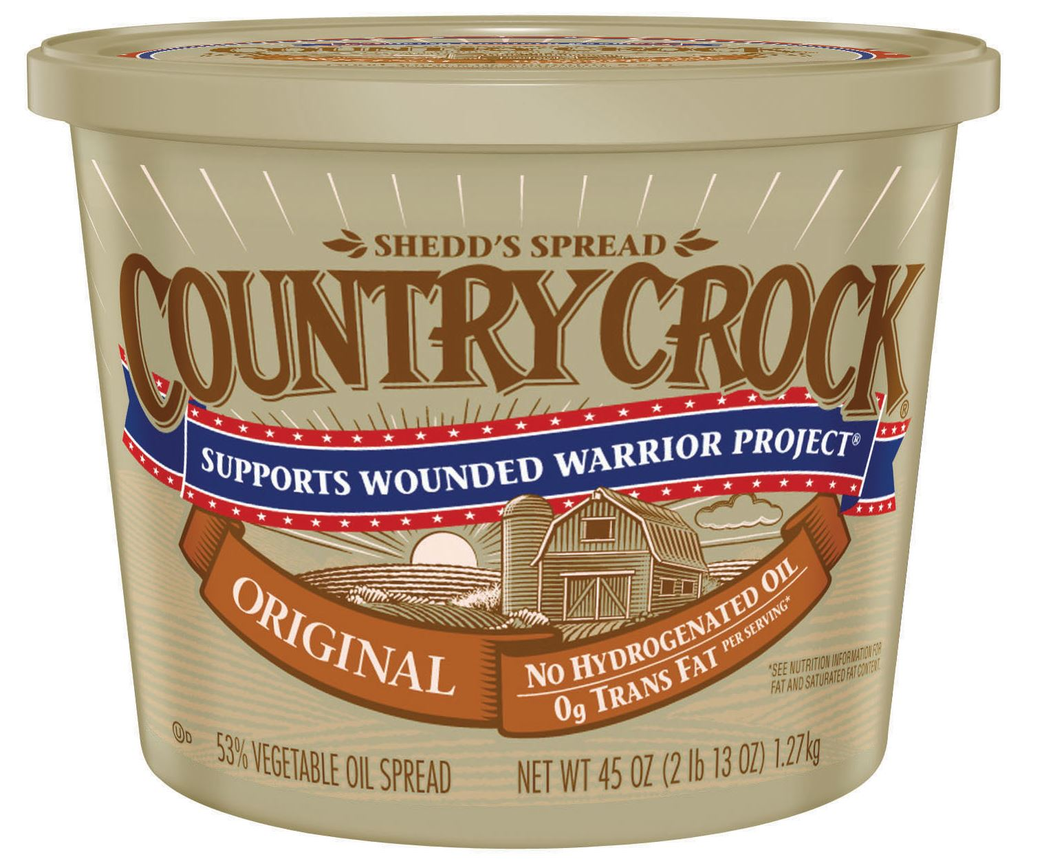 Shedd's Spread Country Crock is one of the many types of margarine sold as an alternative to butter. Overall, Country Crock is healthier than butter because of its lower fat content.