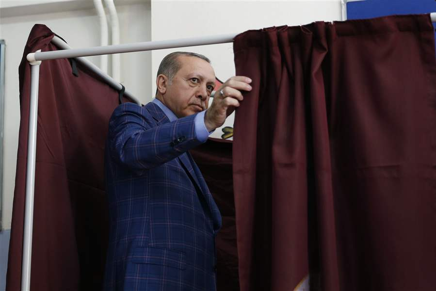 Turkish people voted in favor of changes to the country's constitution