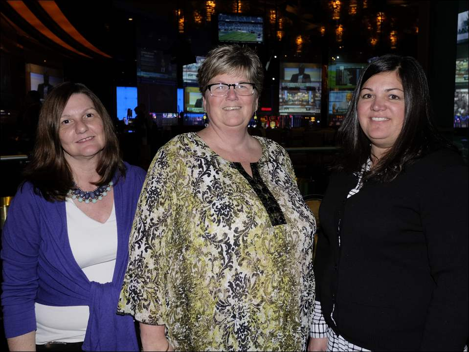 Diana Bush, left, Jeanette Harovatich, and Andrea Musselman, right, at the Auto Dealers United for Kids event at Hollywood Casino April 25.