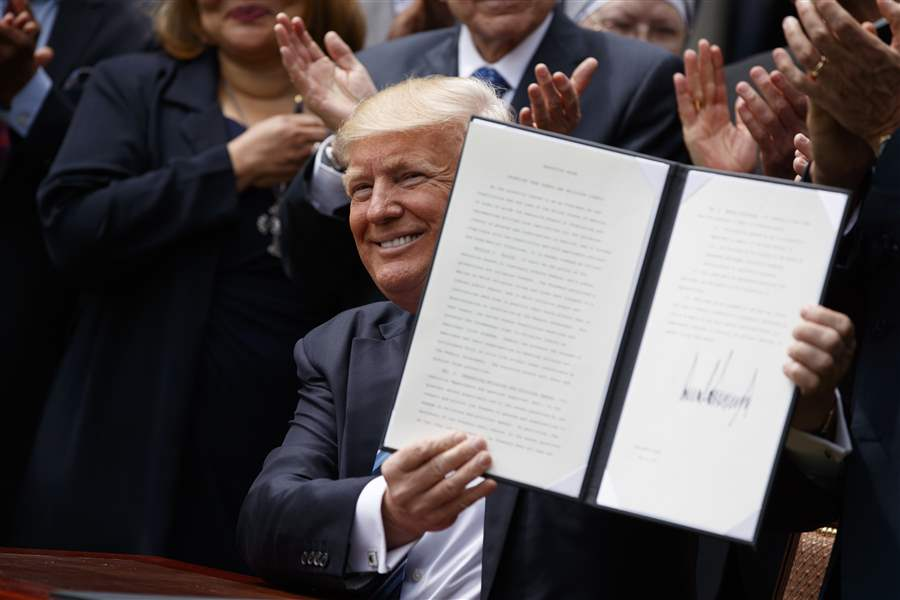 Trump targeting IRS rule on churches