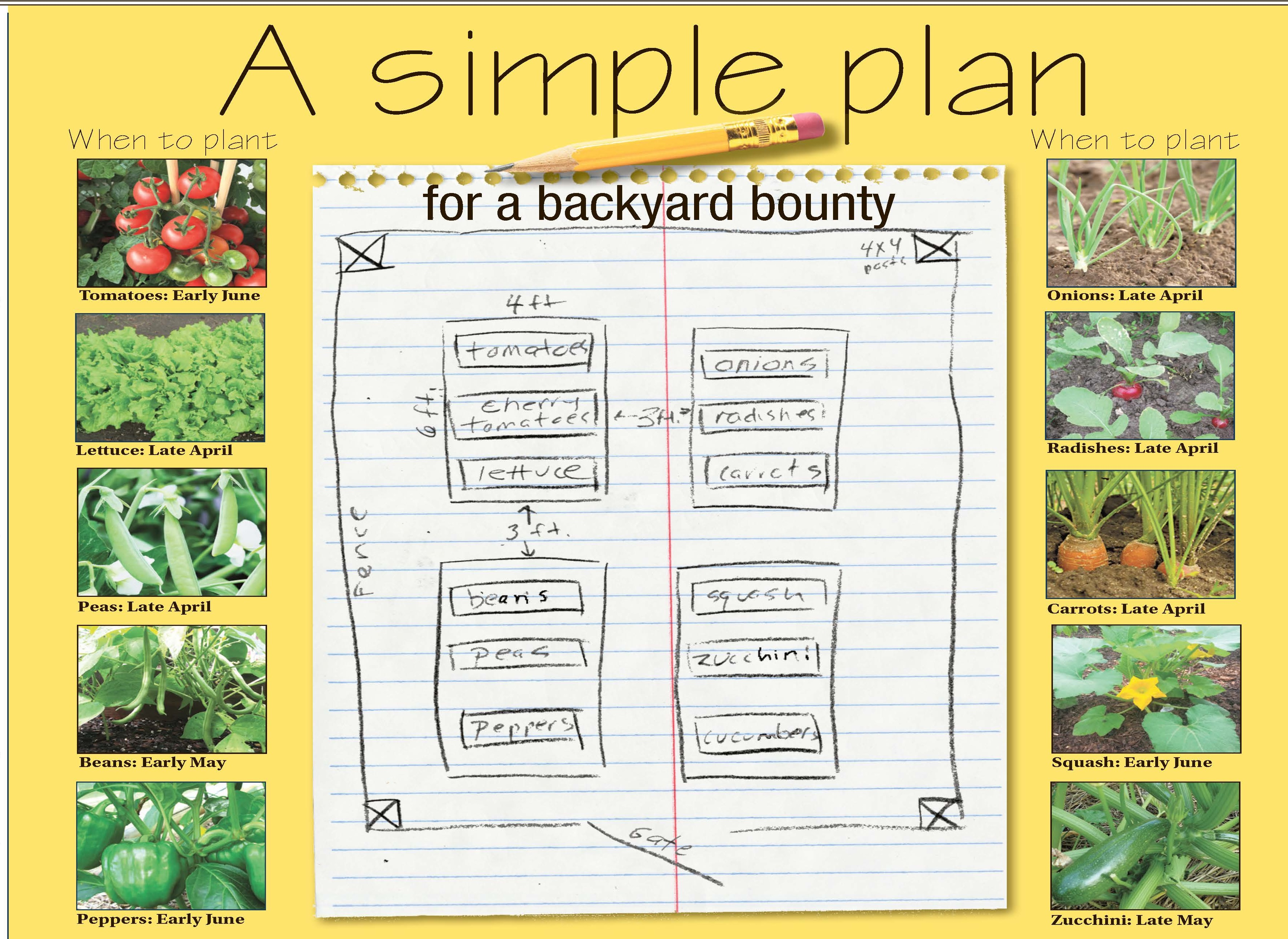 A simple plan for backyard bounty - The Blade on Backyard Layout Planner id=17759