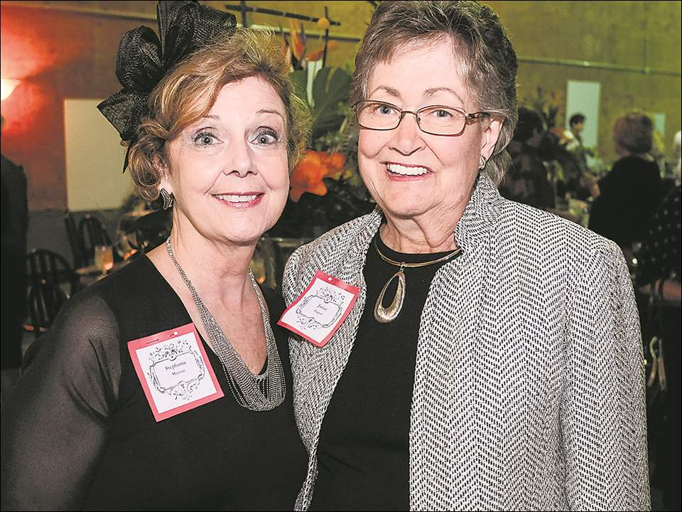 Stephanie Mattoni, left, and Janice Gagnet during the Toledo Museum of Art celebration of 130 years of volunteerism.