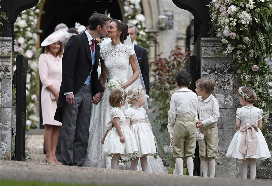 Pippa Middleton marries in lavish, semi-royal wedding