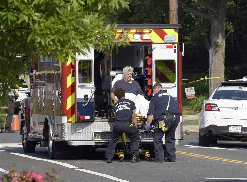 Congressmen at baseball shooting credit 'heroic behavior' Capitol Hill police