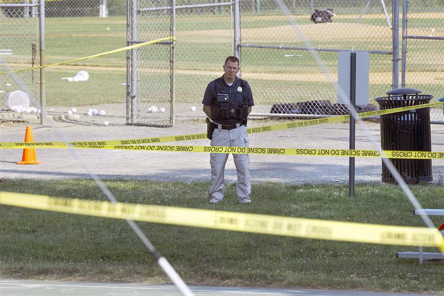 Congressman, Others Shot At Baseball Practice