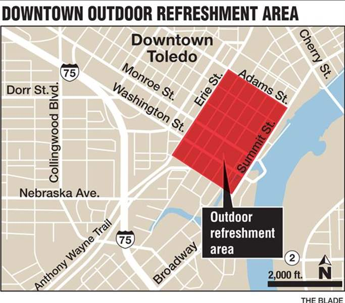 Toledo launches downtown outdoor refreshment area The Blade