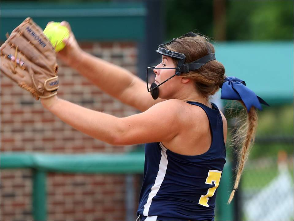 Whiteford pitcher Lindsey Walker delivers during Friday's state semifinal game against Coleman. The Bobcats won, 6-1, to advance to today's state championship game.