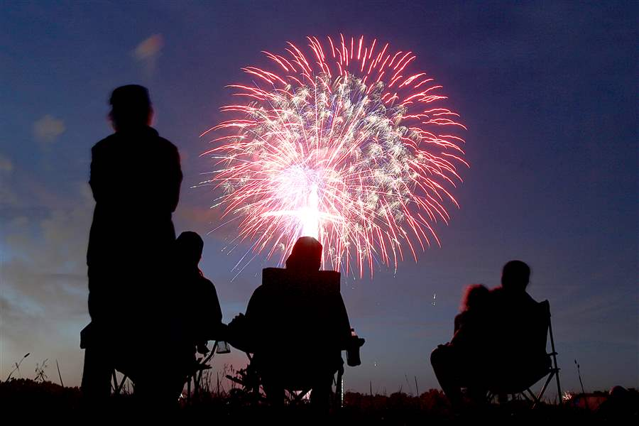 Advise clients to practice fireworks safety during the 4th of July weekend
