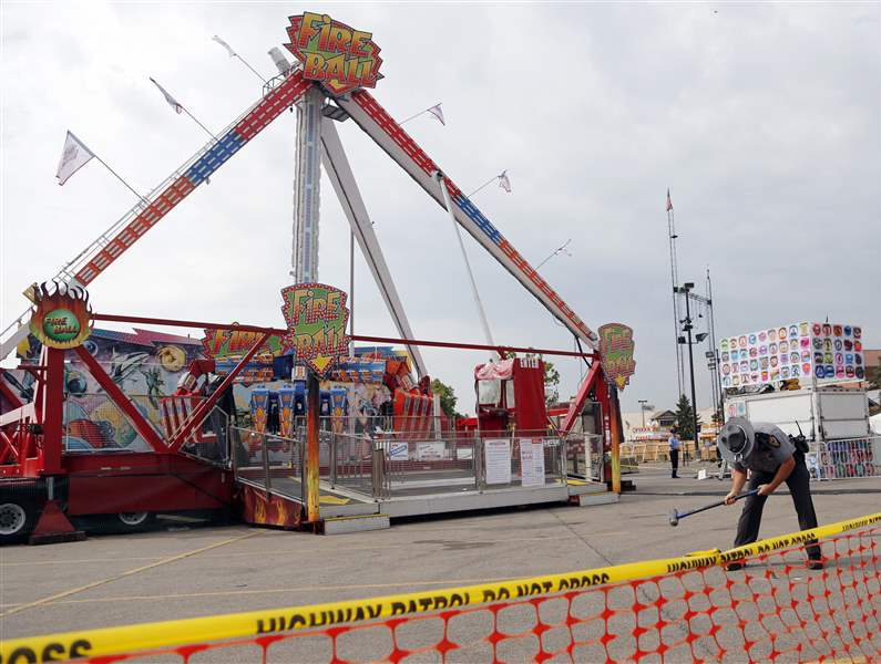 One dead, Seven injured after Ride collapsed at Ohio State Fair