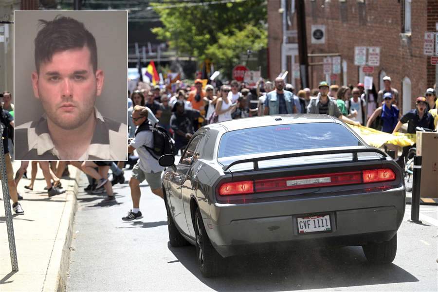James Fields, accused driver in Charlottesville attack, appears in court