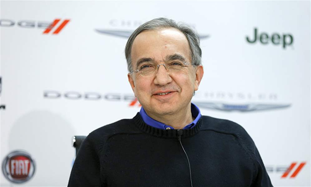 Fiat Chrysler Automobiles Ceo Sergio Marchionne Speaks During Media Previews During The North American International Auto Show In Detroit On Jan