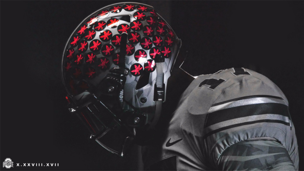 5100ff8208c00 Ohio State will look a bit different than normal for this week s game. The  program s tradition scarlet home jerseys will give way to an all-gray  alternate